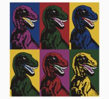 Dinosaur Pop Art Kids Tee