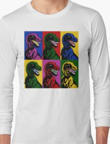 Dinosaur Pop Art Long Sleeve T-Shirt
