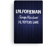 I.M.FOREMAN - Totters Lane Canvas Print