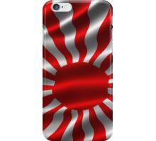 Rising Sun Japan Flag illustration iPhone Case/Skin