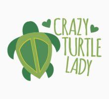Crazy Turtle Lady Kids Tee