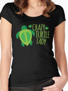 Crazy Turtle Lady Women's Fitted Scoop T-Shirt