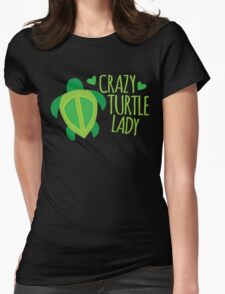 Crazy Turtle Lady Womens Fitted T-Shirt