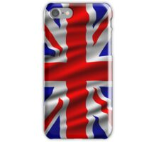 Great Britain Wavy Flag illustration iPhone Case/Skin