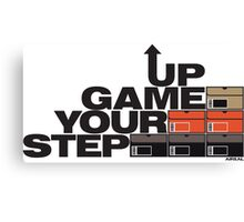 Step Your Game Up Sneakerhead by AiReal Apparel Canvas Print