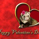 Valentine's Day Ferret by jkartlife