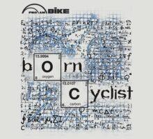 Cycling T Shirt - Born Cyclist by ProAmBike