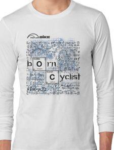 Cycling T Shirt - Born Cyclist Long Sleeve T-Shirt