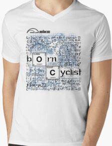 Cycling T Shirt - Born Cyclist Mens V-Neck T-Shirt