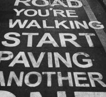 Road Markings Sticker