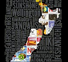 New Zealand NZ Aotearoa Stamp by STUDIO 88 TARANAKI NZ