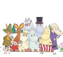 The Moomin Family by fleetingcrows
