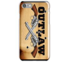 Western outlaw background illustration iPhone Case/Skin