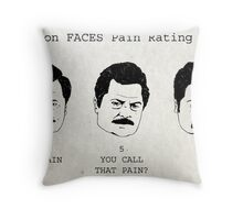 Swanson FACE Pain Rating Scale Throw Pillow