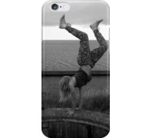 handstanding on the edge iPhone Case/Skin