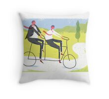 Ride a Tandem Bike Throw Pillow