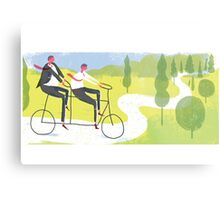 Ride a Tandem Bike Metal Print