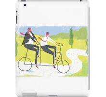 Ride a Tandem Bike iPad Case/Skin