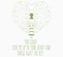 Bring Me The Horizon Rib Heart Green by Kayla Karol