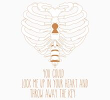 Bring Me The Horizon Rib Heart Orange by Kayla Karol