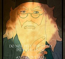 Dumbledore. Harry Potter, Azkaban, Goblet of fire, Quote, Wise, Wiseman, Wisdom, Rowling, Wizard, Hogwarts by TishatsuDesigns