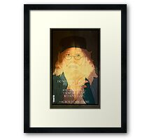 Dumbledore. Harry Potter, Azkaban, Goblet of fire, Quote, Wise, Wiseman, Wisdom, Rowling, Wizard, Hogwarts Framed Print