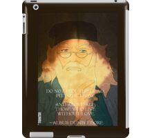 Dumbledore. Harry Potter, Azkaban, Goblet of fire, Quote, Wise, Wiseman, Wisdom, Rowling, Wizard, Hogwarts iPad Case/Skin