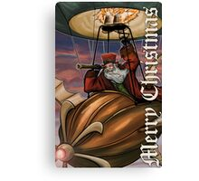 Steampunk Santa Claus Canvas Print