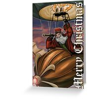 Steampunk Santa Claus Greeting Card