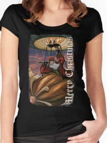 Steampunk Santa Claus Women's Fitted Scoop T-Shirt