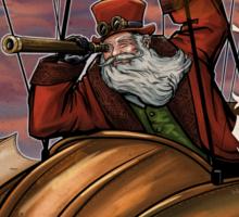 Steampunk Santa Claus Sticker