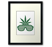 Weed Party Glasses Framed Print
