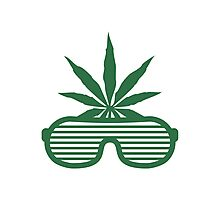 Weed Party Glasses Photographic Print