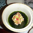 Another of many courses. Dinner at Jozankei, Hokkaido by Glen O'Malley