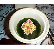 Another of many courses. Dinner at Jozankei, Hokkaido Photographic Print