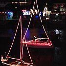 Boats alight by Jan Carlton