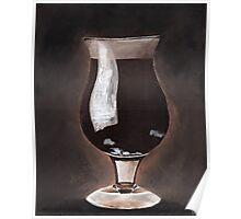 Dark Beer in Tulip Glass Porter Stout Poster