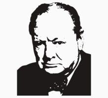 Silhouette portrait Winston Churchill Kids Tee
