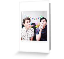 Dan and Phil Birthday card! <3 Greeting Card