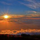 Sunset over Maui by JamesA1
