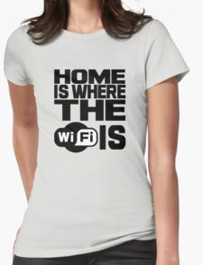 Home Is Where The Wifi Is Womens Fitted T-Shirt