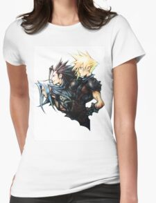 Cloud, Zack & Sephiroth (COLOUR) Womens Fitted T-Shirt
