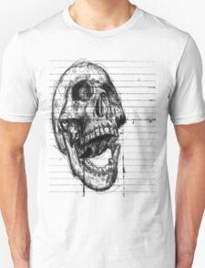 Skull on notebooke paper T-Shirt