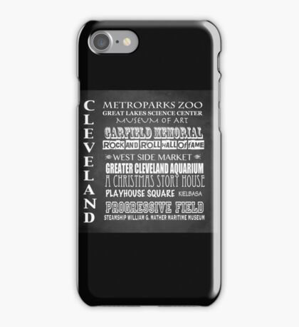 Cleveland Ohio Famous Landmarks iPhone Case/Skin
