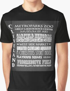 Cleveland Ohio Famous Landmarks Graphic T-Shirt