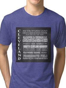 Cleveland Ohio Famous Landmarks Tri-blend T-Shirt