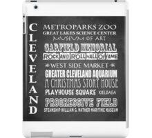 Cleveland Ohio Famous Landmarks iPad Case/Skin
