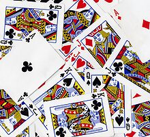 Group of playing cards background by creativedesignz