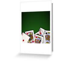 Group of playing cards spread out Greeting Card