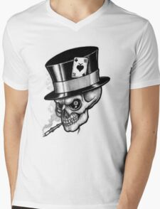 Scary Skull Mens V-Neck T-Shirt